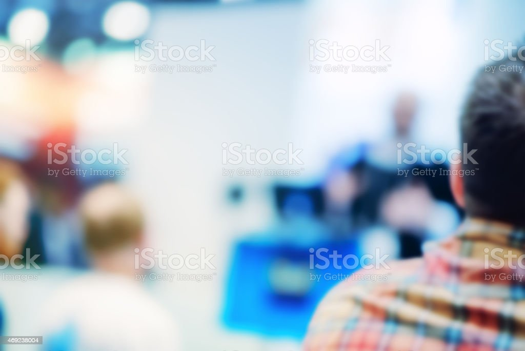 Group of People Listening to a Presentation stock photo