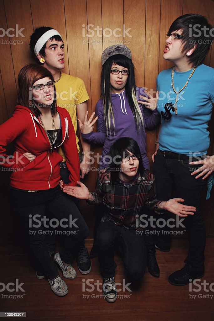 group of people making faces royalty-free stock photo