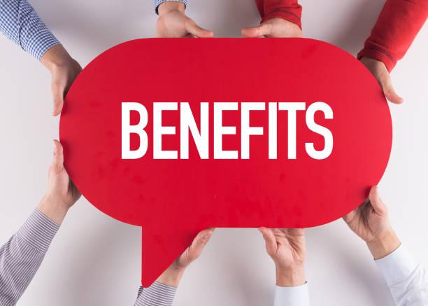 group of people message talking communication benefits concept - benefits imagens e fotografias de stock