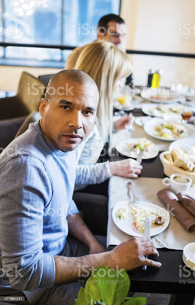 Group of people on a dinner. royalty-free stock photo