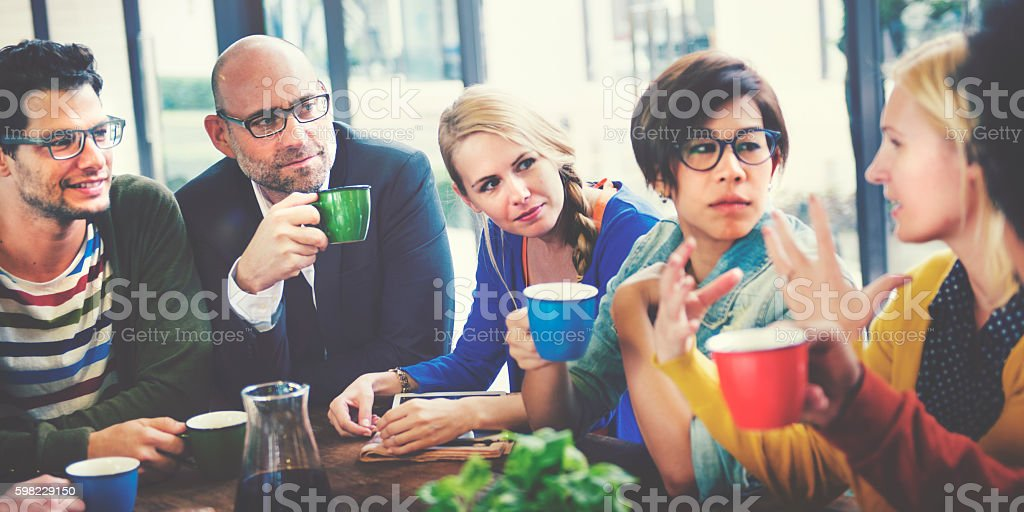 Group of People on Coffee Break Community Concept foto royalty-free
