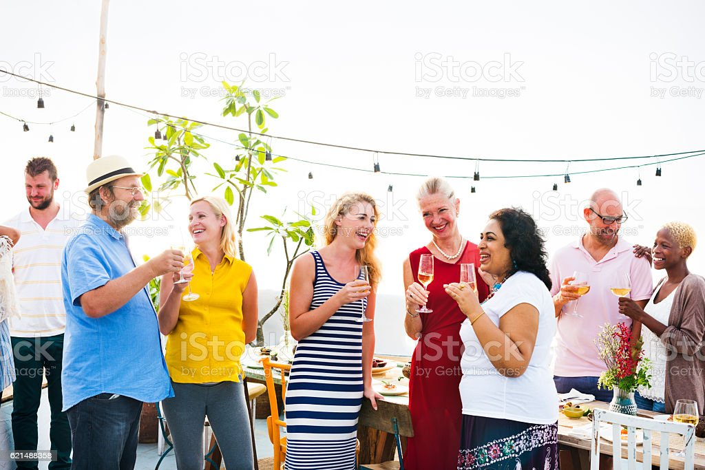 Group Of People Party Concept foto stock royalty-free