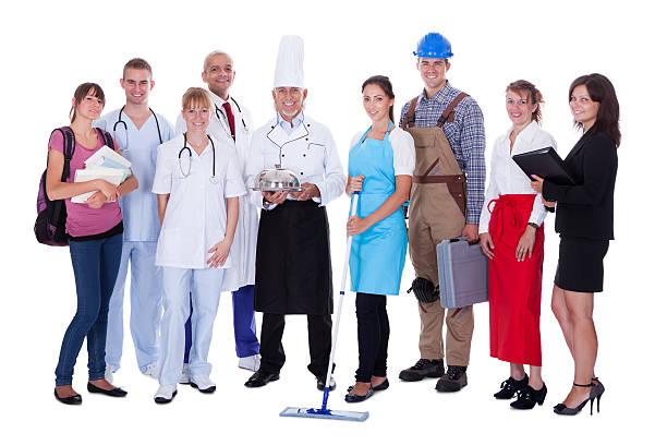 Groupe de personnes de diverses professions - Photo