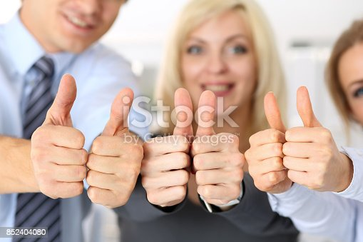 istock Group of people show OK or confirm with thumb up 852404080