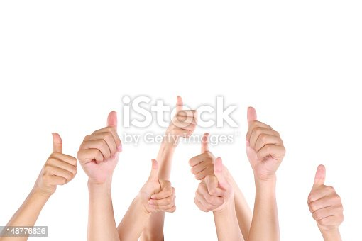 istock Group of people showing thumbs up 148776626