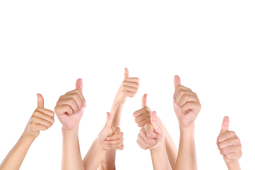 888892364 istock photo Group of people showing thumbs up 148776626
