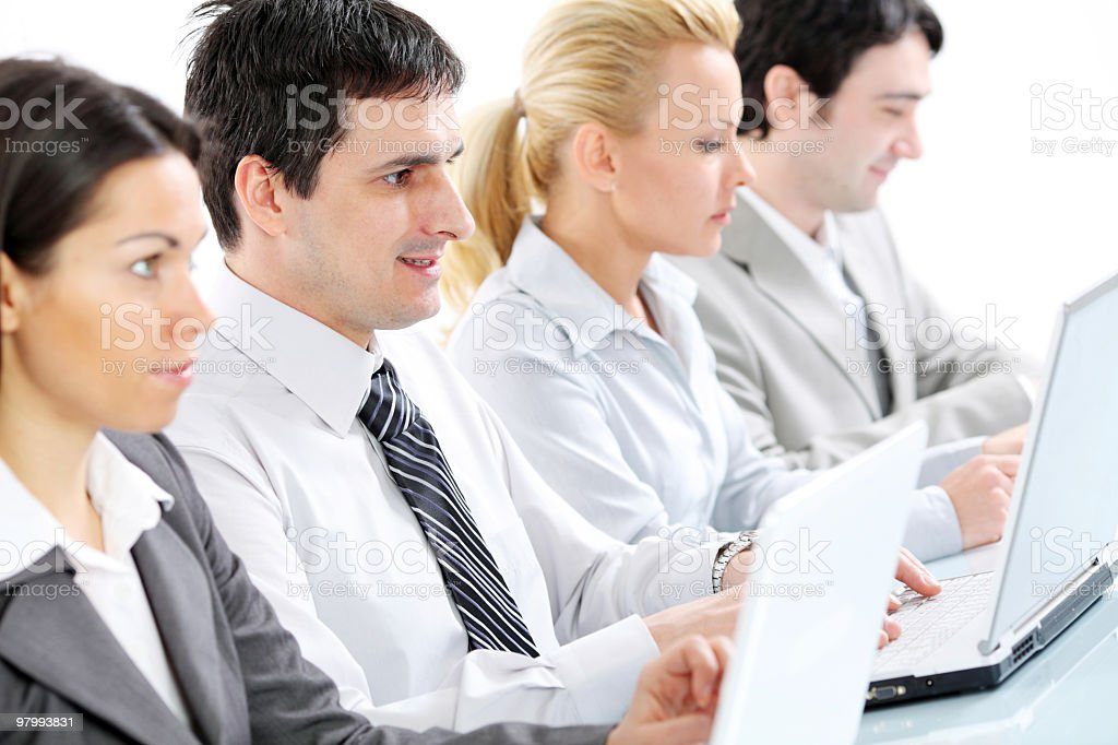 Group of people sitting in row on a business meeting. royalty-free stock photo