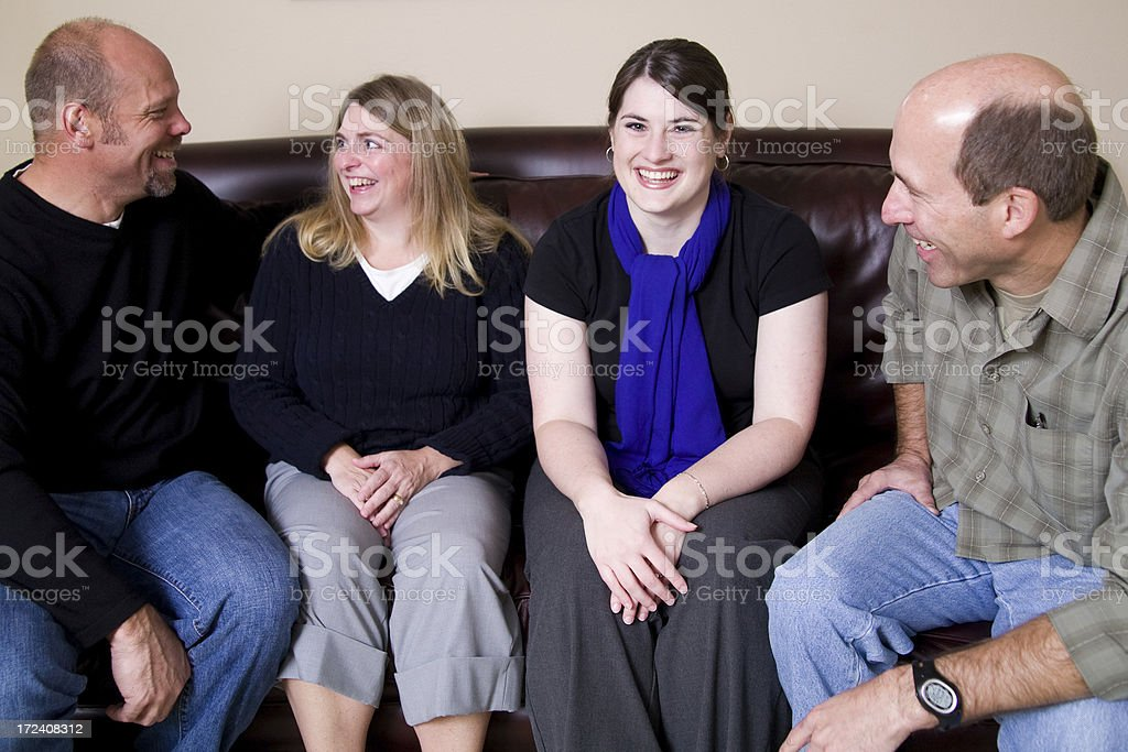 group of people talking royalty-free stock photo