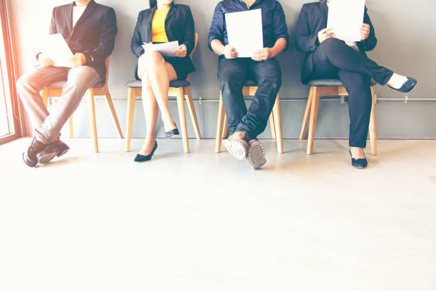 Group of people waiting for job interview - foto stock