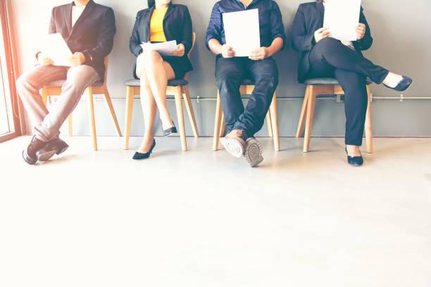 Gruppe von Menschen warten auf Job-interview – Foto