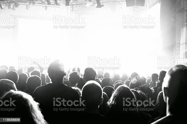 A Group Of People Who Like The Concert Venue Stock Photo - Download Image Now