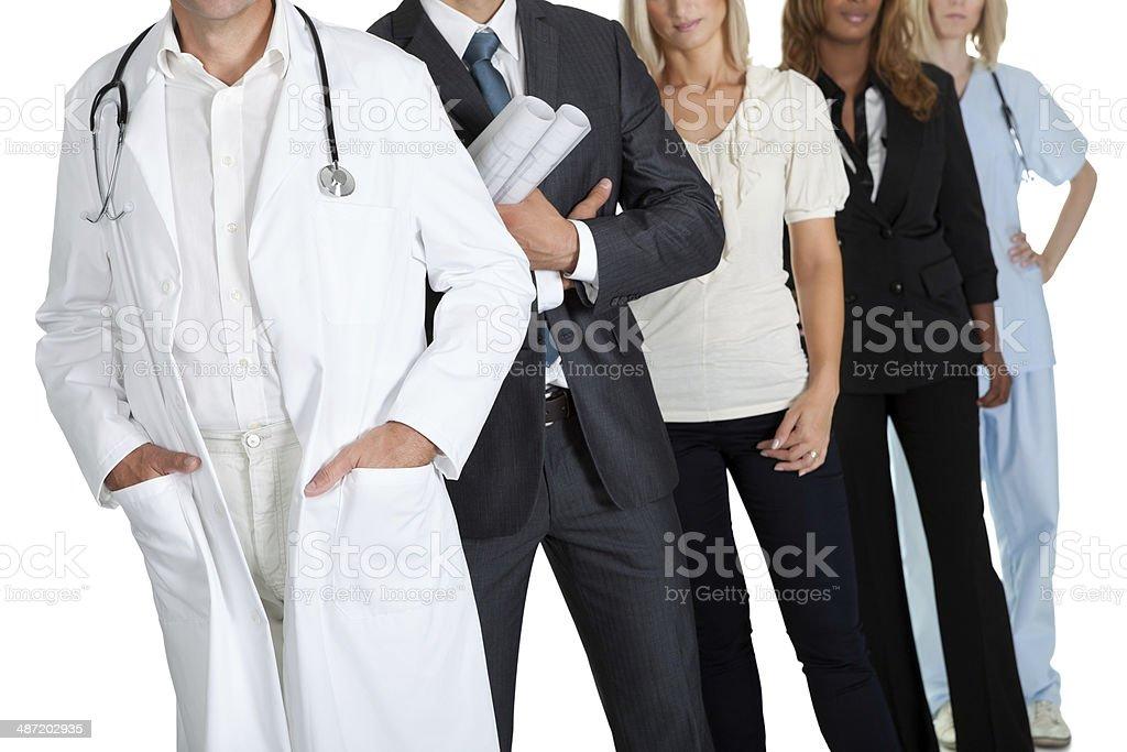 Gruppe von Menschen mit verschiedenen Berufe – Foto