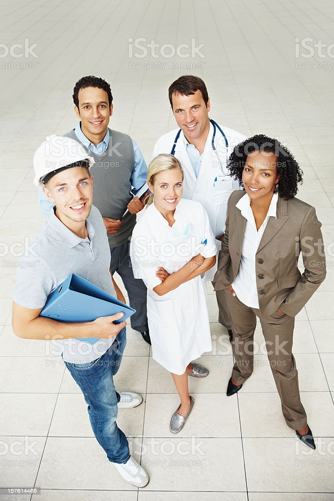 Group of people with different professions royalty-free stock photo