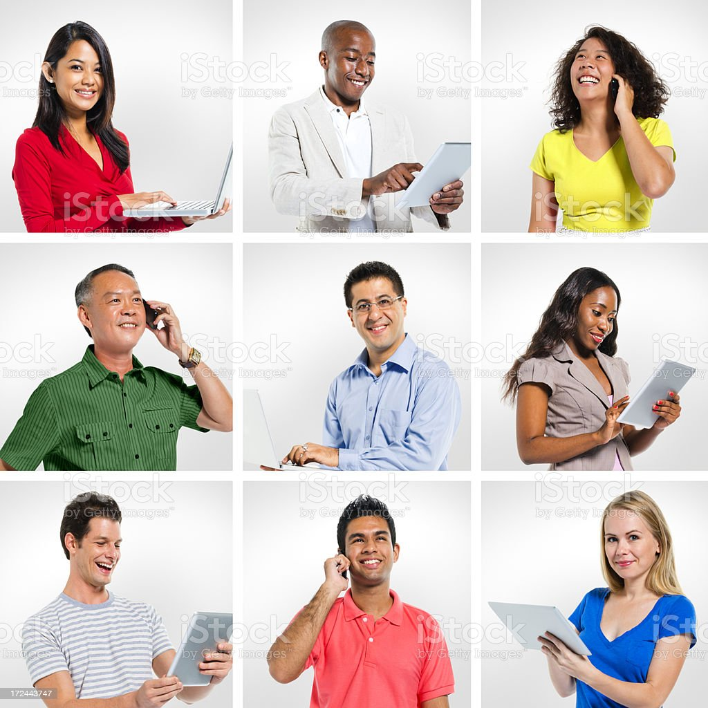 Group of People with Global Communication royalty-free stock photo