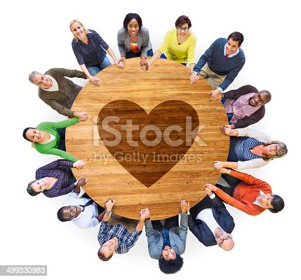 istock Group of People with Heart Shape 499330983