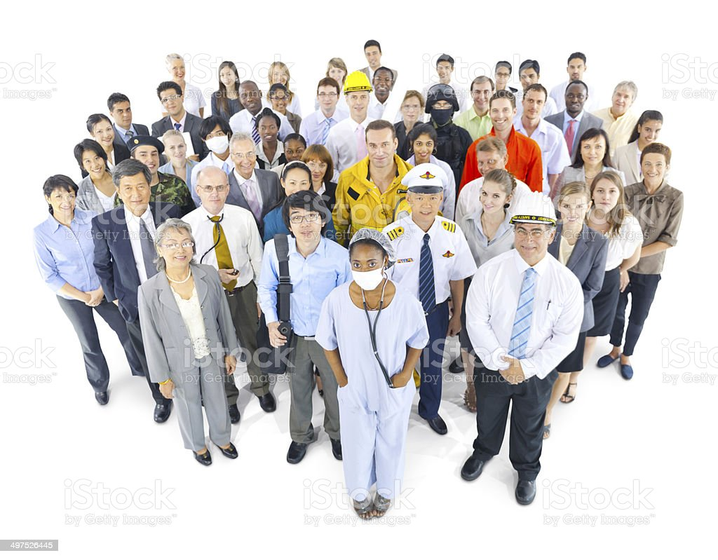 Group of People with Variety Occupations stock photo