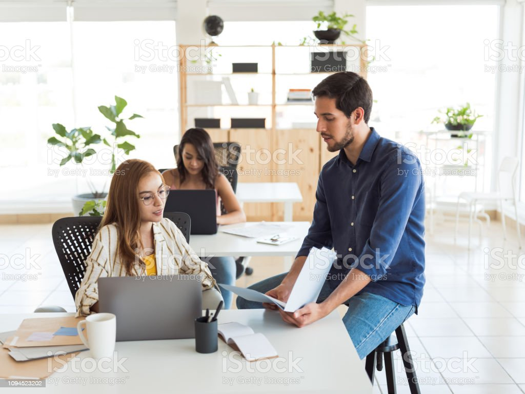 Group of people working as a team stock photo