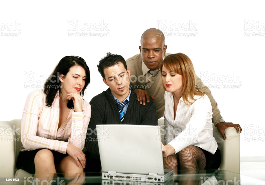 Group of people working royalty-free stock photo