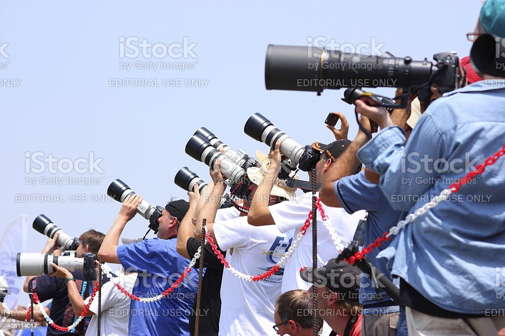 Group of Photographers royalty-free stock photo