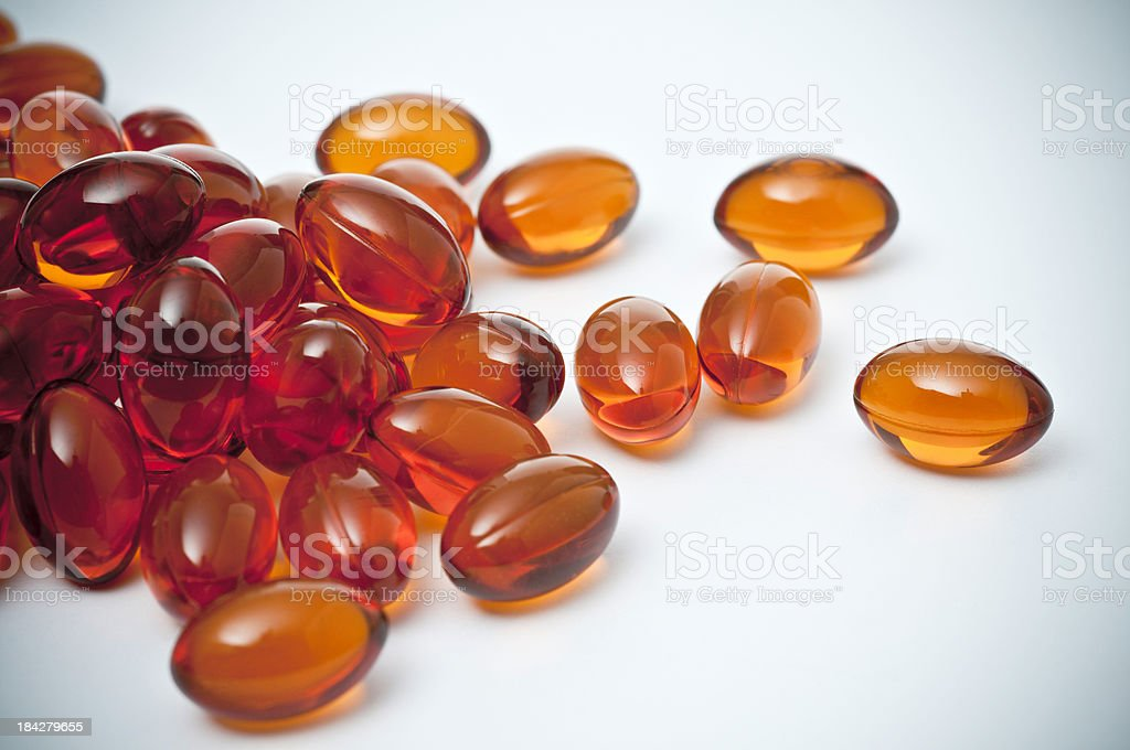 group of pills or vitamin gel royalty-free stock photo