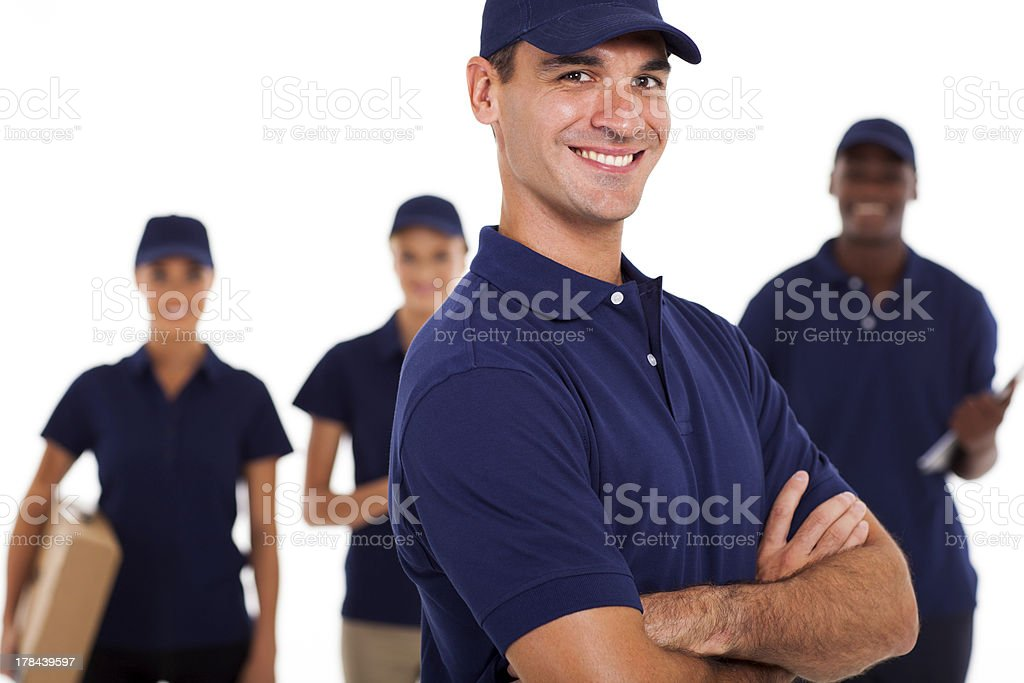 group of professional IT technicians stock photo