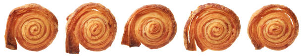 Group of puff pastry cookies stock photo