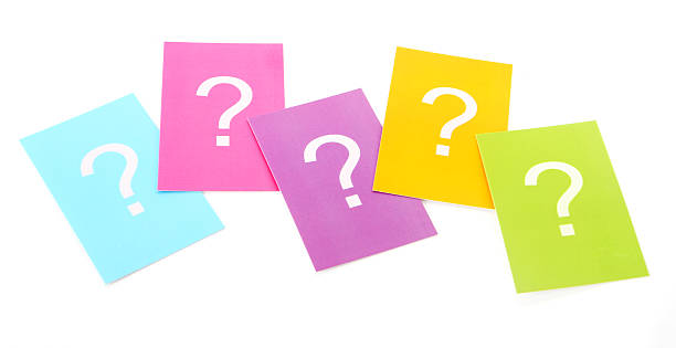 Group of Questions stock photo