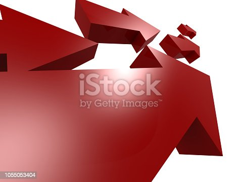 1014851396 istock photo Group of red arrows move upword 1055053404