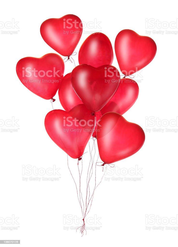 Gruppe von roten Herz-Luftballons – Foto
