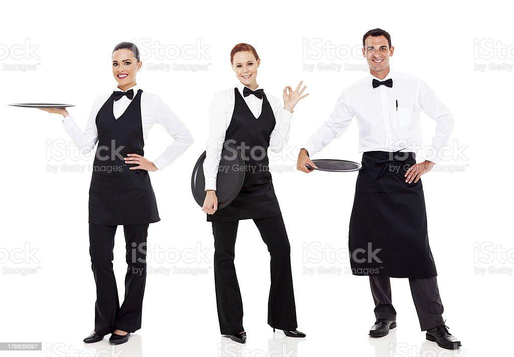 group of restaurant staff stock photo