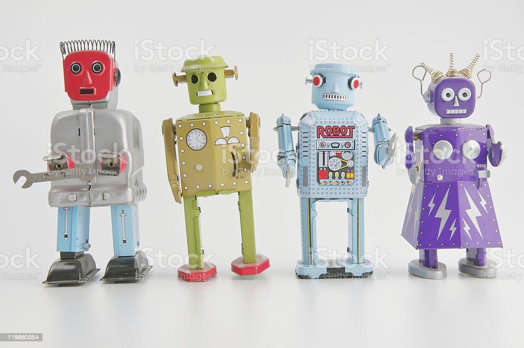 Gruppo di Robot - foto stock