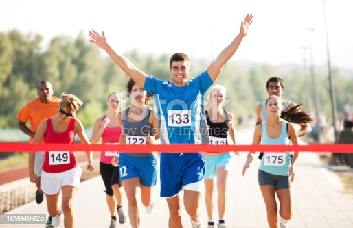 istock Group of runners finishing the race. 169949925