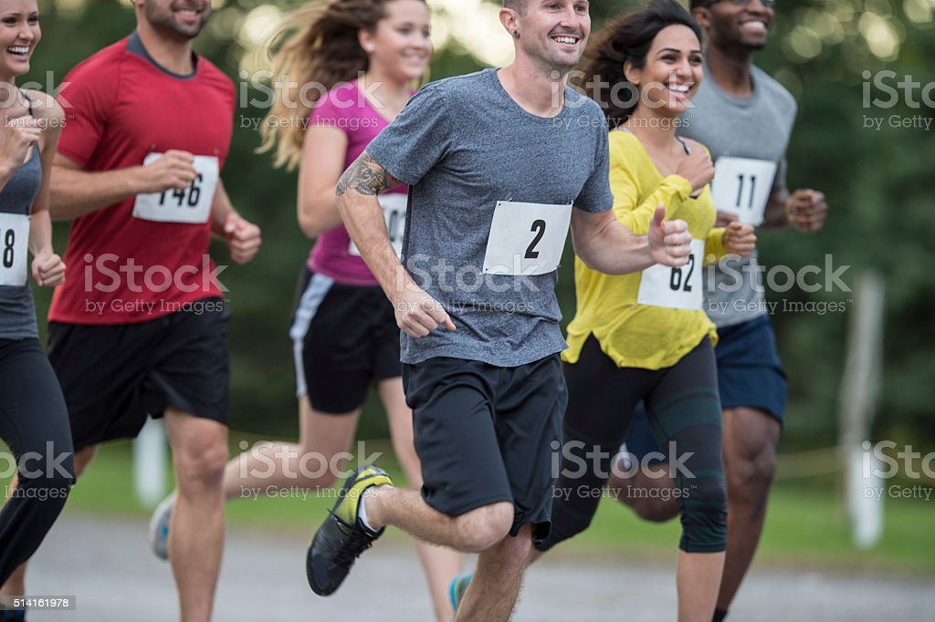 Group of Runners stock photo