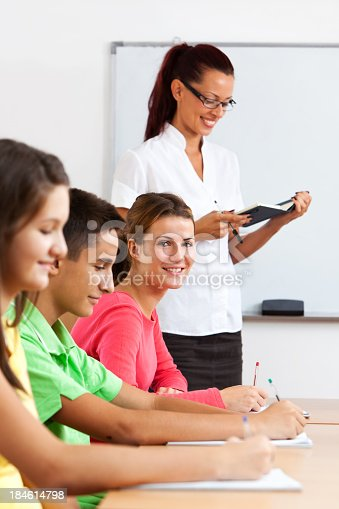 639569206 istock photo Group Of School Children In The Classroom 184614798