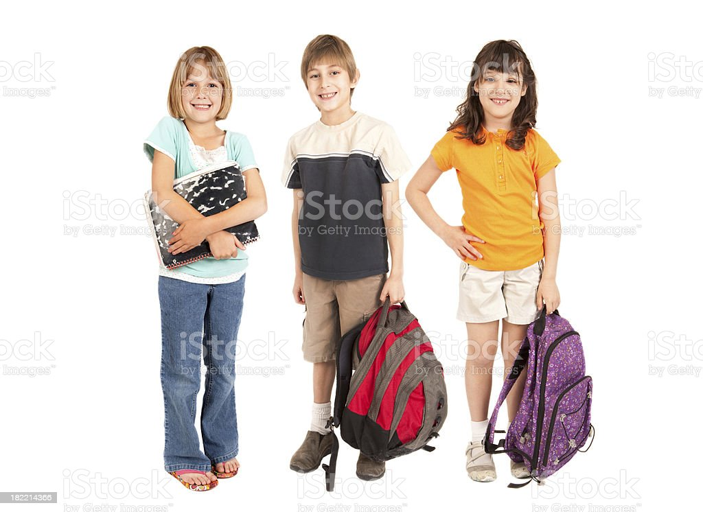 Group of School Kids royalty-free stock photo
