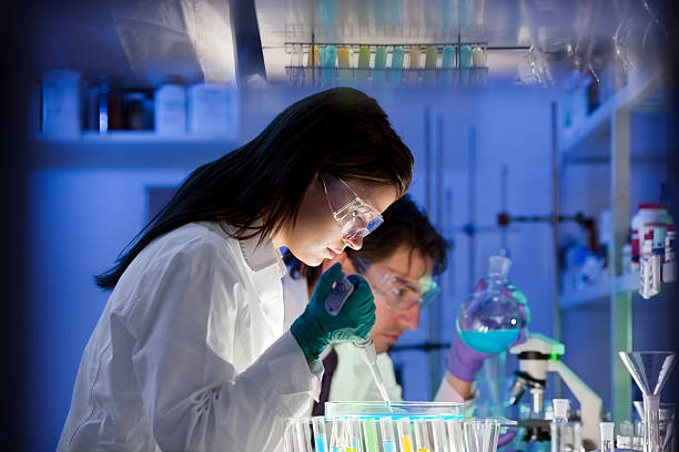 group of Scientist  In Laboratory stock photo