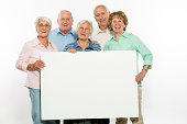 istock Group of senior adult with a blank board 501029241