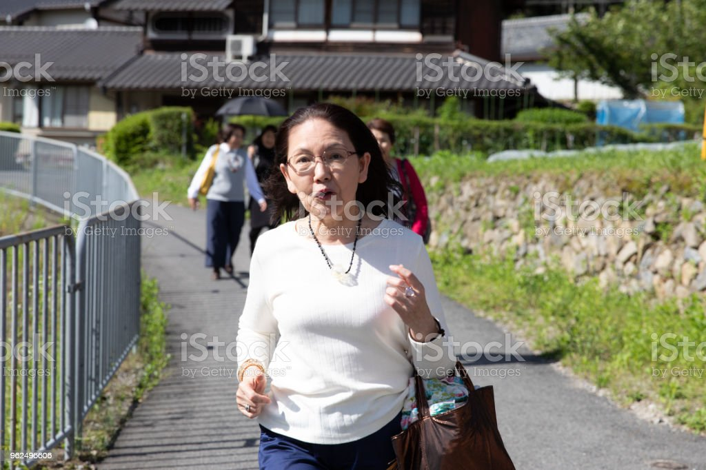 Group of senior Japanese Female female on holiday - Royalty-free 60-69 Years Stock Photo
