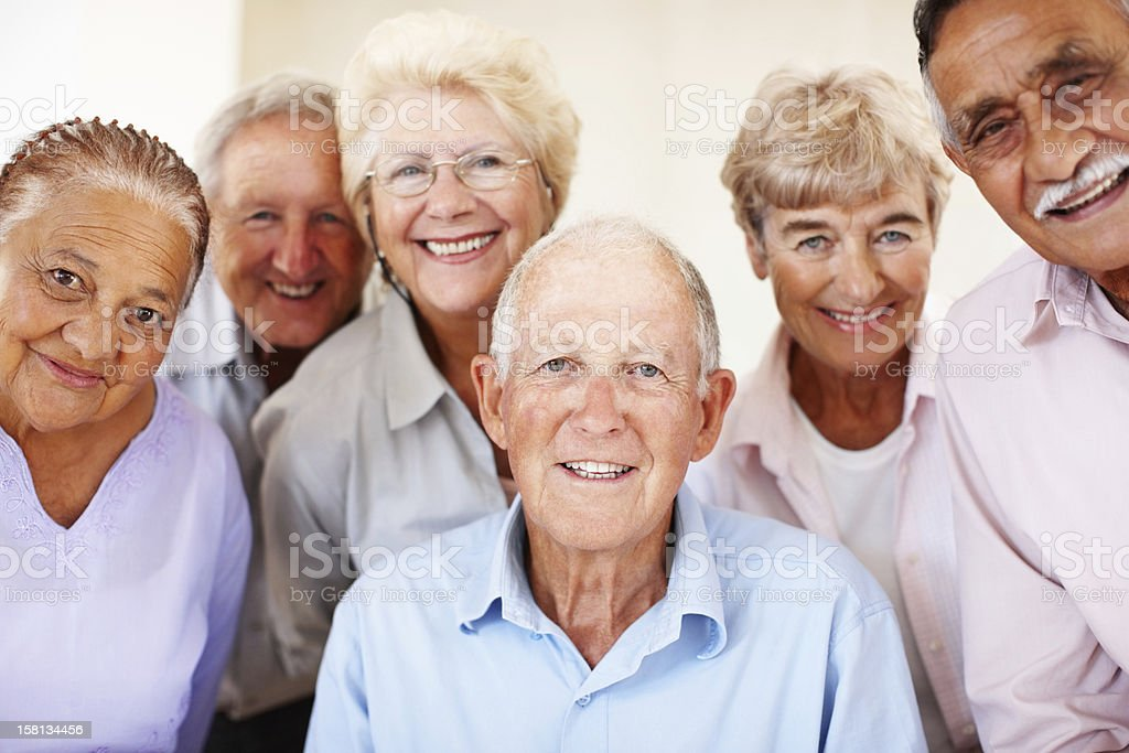 Group of senior people stock photo