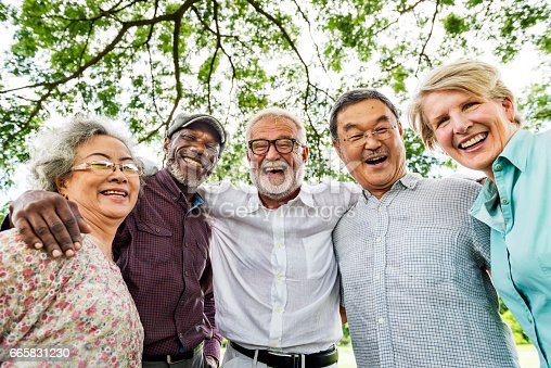 istock Group of Senior Retirement Discussion Meet up Concept 665831230
