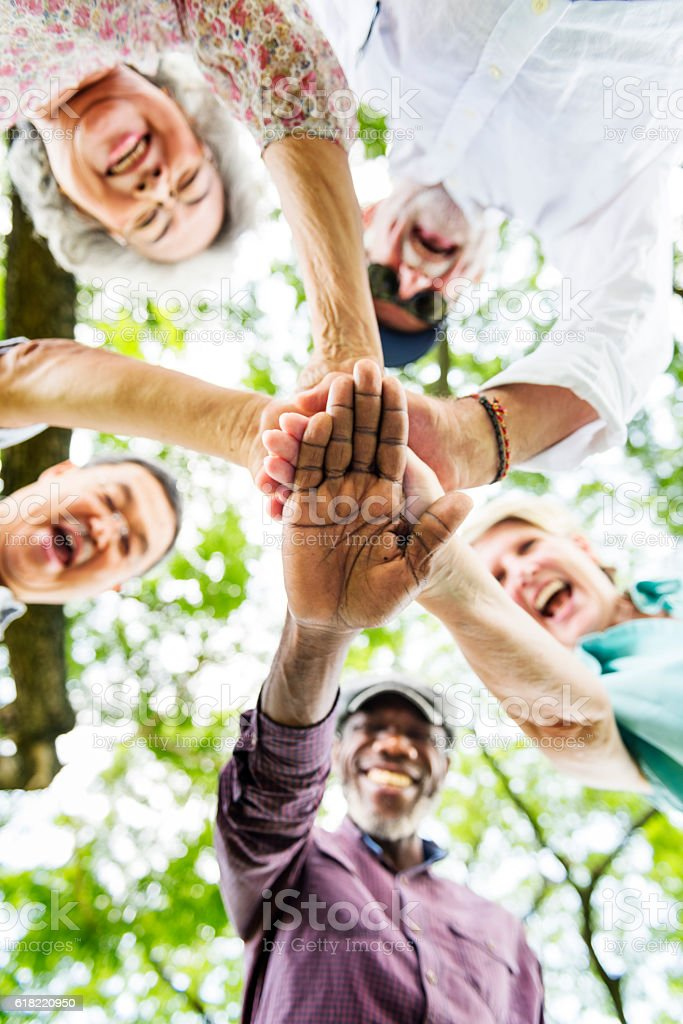 Group Of Senior Retirement Exercising Togetherness Concept - foto stock
