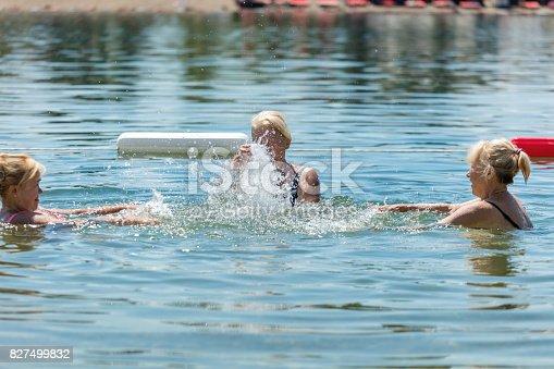 istock Group of senior women having fun 827499832