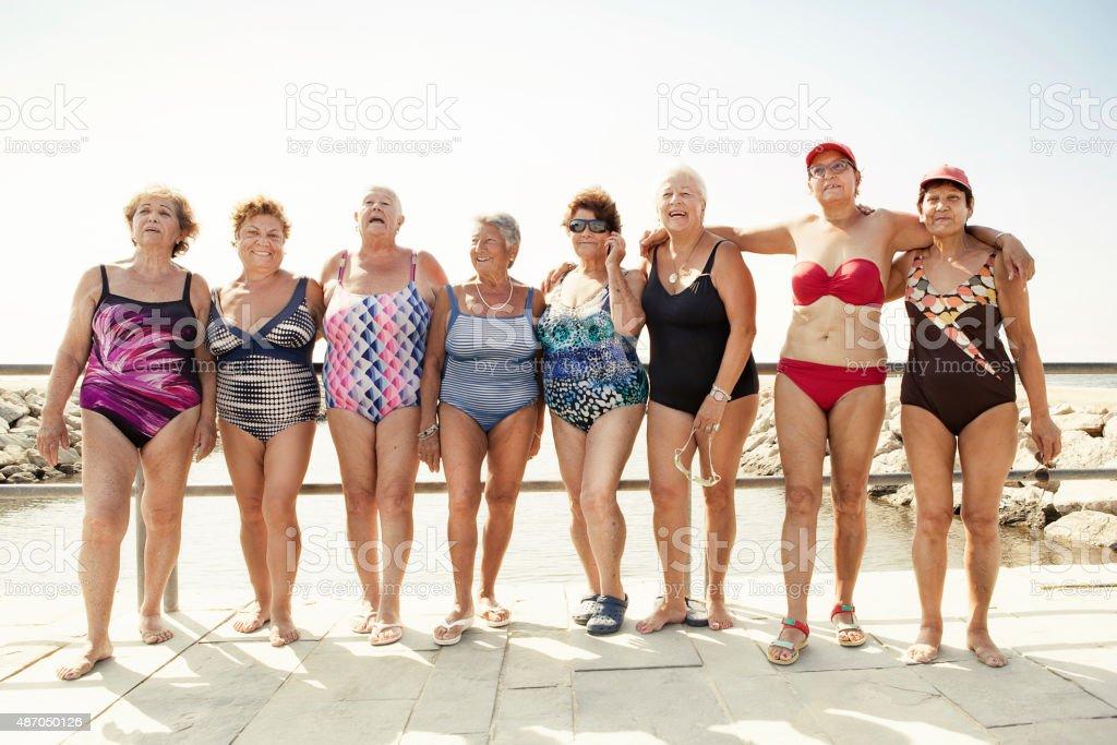 Group of senior women royalty-free stock photo