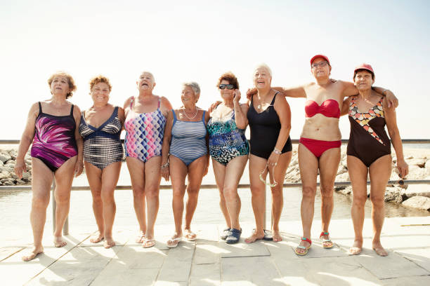 Group of senior women stock photo