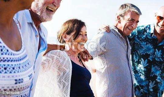 1094812112 istock photo Group of seniors on the beach 976449446