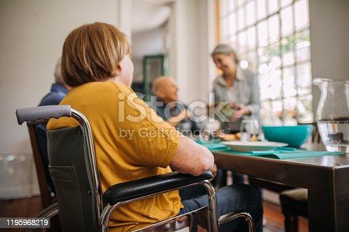 Senior friends having lunch in nursing home