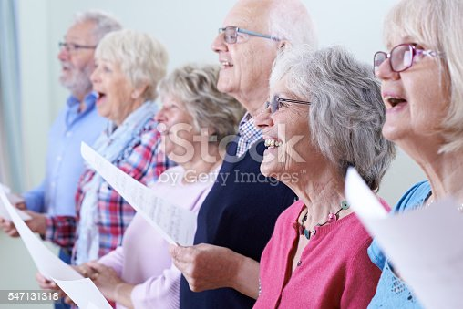 istock Group Of Seniors Singing In Choir Together 547131318
