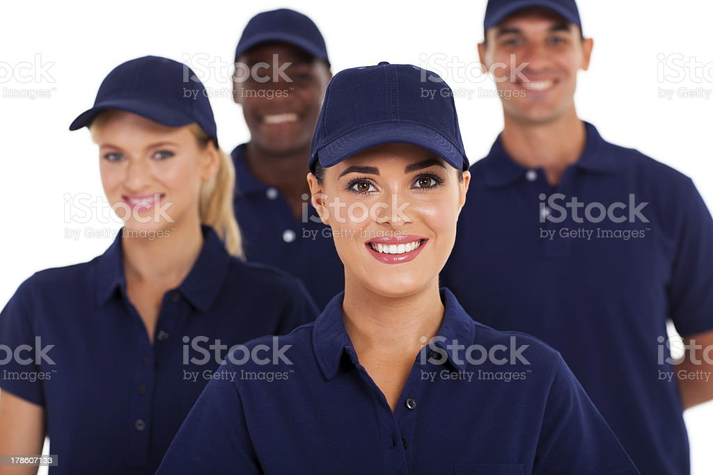 group of service industry staff stock photo