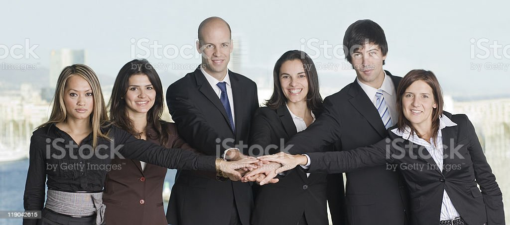 Group of six businesspeople royalty-free stock photo