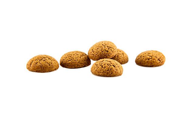 group of six pepernoten - kruidnoten stockfoto's en -beelden